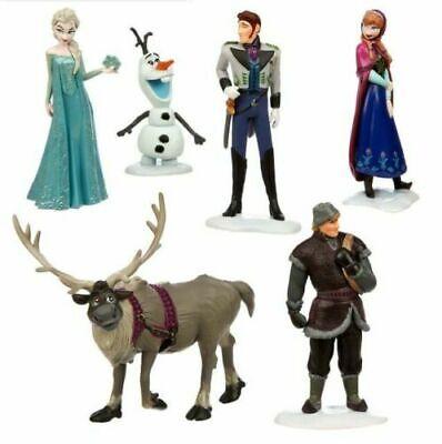 Disney Frozen Toy Figures 6Pcs Set Elsa Anna Kristoff Olaf Hans Sven Cake Topper - Disney Princess Set