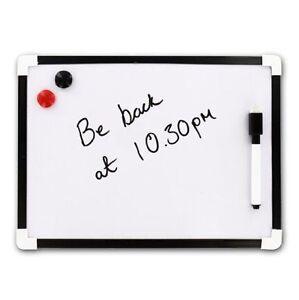 A4 Magnetic Whiteboard Dry Wipe Mini Office Notice Memo White Board Kitchen Deaf
