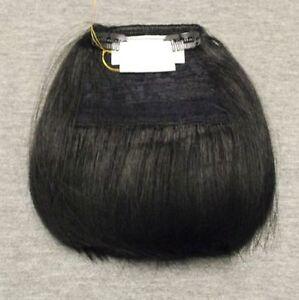 TOP Haarteil - Fake Bangs - Falscher Pony mit Clips - Haarfüller