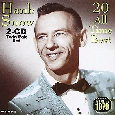 Hank Snow   20 All Time Best  New Cd