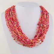 Multi Strand Red Bead Necklace