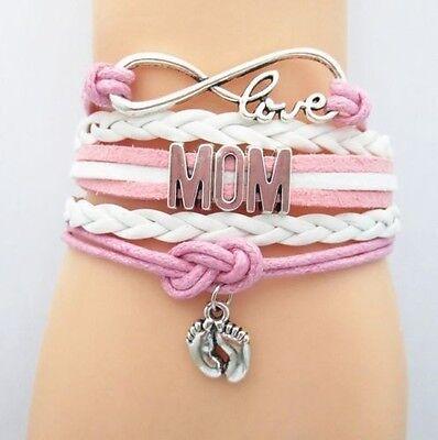 Lederarmband Armband Mom Love Mutter Geschenk Muttertag Mama
