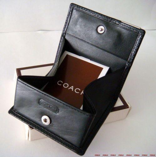 Coach Leather Coin Purse Ebay