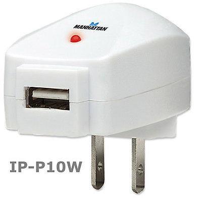 Manhattan USB Power Adapter - 110 V AC Input Voltage - 500 m