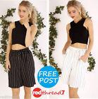Striped Women's High Waist Shorts