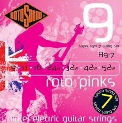 Rotosound Nickel Electric Guitar Strings - 7-String Super Light Set 9-52, R9-7