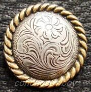 Western Saddle Conchos Set