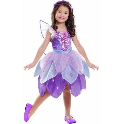 Dazzling Fairy Light-Up Girl's Halloween Dress-Up Costume Purple Medium (8-10)