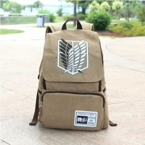 New Anime Attack on Titan Backpack School Bag Canvas Cosplay Bag
