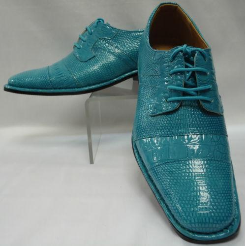 Mens Turquoise Dress Shoes | EBay