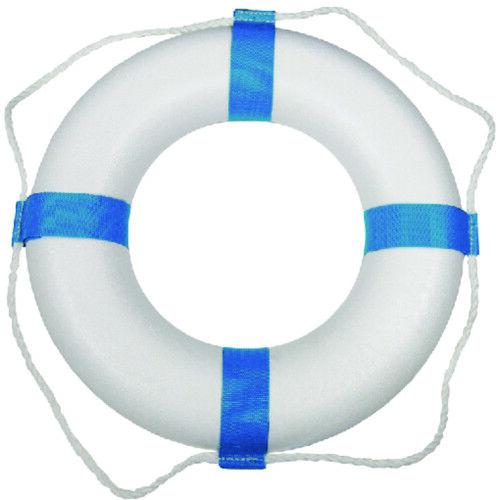 "Taylor Made Marine Boat Decorative Life Ring Buoy 24"" 24 inch White / Blue 373"