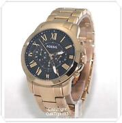 Mens Fossil Watch Gold Tone