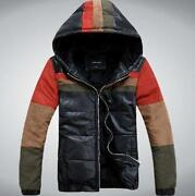 Mens Leather Jacket Hoody