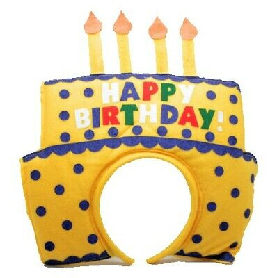PretendEar Headband Fun Party Costume Celebration Happy Birthday Cake Hat Candle