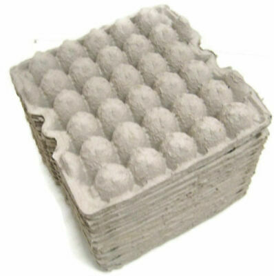25 Flat Egg Crates Carton Paper Trays 30 Eggs 11x11 Shipping Craft Reptile