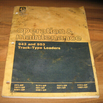 Cat Caterpillar Operation Maintenance Manual943 953 Track Type Loaders