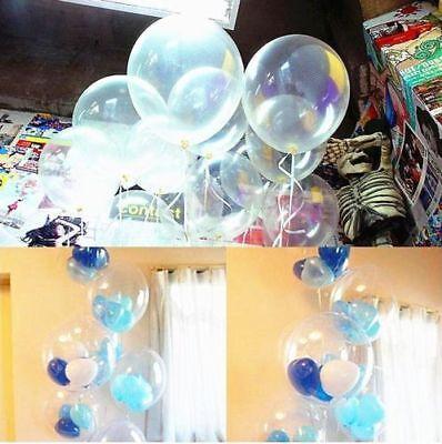 Wholesale 10/20/100Pcs Transparent Latex Balloon Birthday Wedding Party Decor jc (Wholesale Latex Balloons)