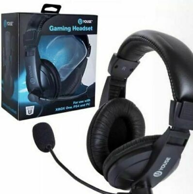 New U YOUSE GAMING HEADSET XBOX ONE, PS4, AND PC, With Built In Mic