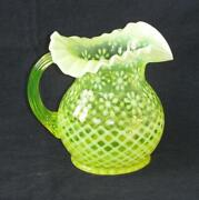 Uranium Glass Pitcher