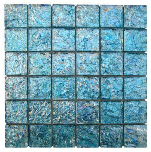 Aqua Glass Mosaic Tiles Ebay
