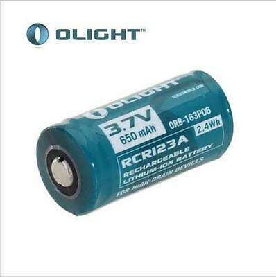 Original RCR123A 16340 3.7V 650mAh Rechargeable Li-ion Battery for Flashlight