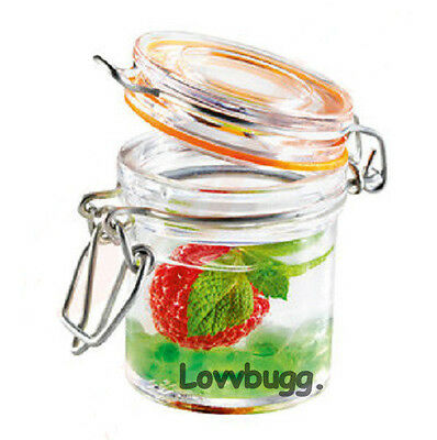 "Lovvbugg Empty Sm Mini Plastic Jar for Spice n 18"" American Girl Kitchen Doll Accessory"
