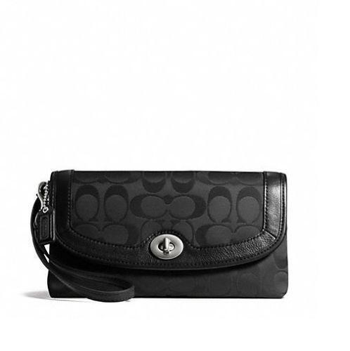 Coach Large Wristlet Black   eBay