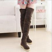 Womens Over The Knee Flat Boots