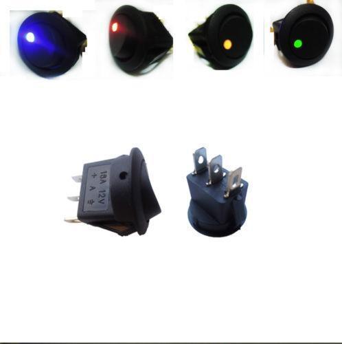 12V Lighted Rocker Switch  sc 1 st  eBay : lighted rocker switch wiring diagram - yogabreezes.com