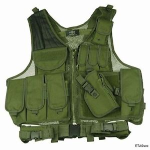 NEW-OD-GREEN-Army-Military-LE-MOLLE-X-Draw-Gun-Tactical-Combat-Raid-Assault-Vest