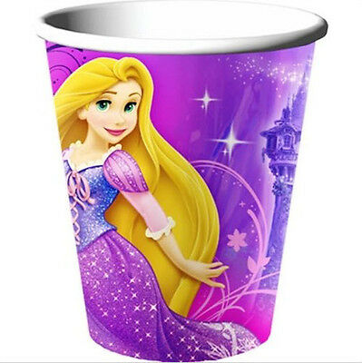 Tangled Birthday Party Supplies (Disney Tangled Princess Rapunzel PAPER CUPS birthday party supplies 8pc)
