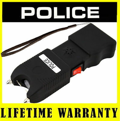 POLICE Stun Gun + Taser Case TW10 58 BV Rechargeable Siren Alarm LED Flashlight