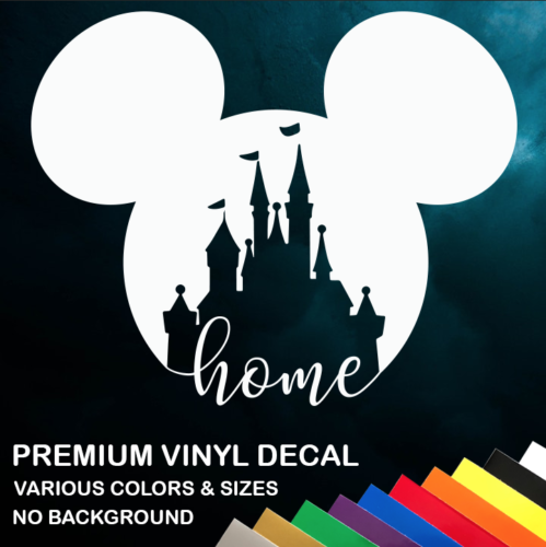 Walt Disney World Home Vinyl Window Sticker Decal Car Truck