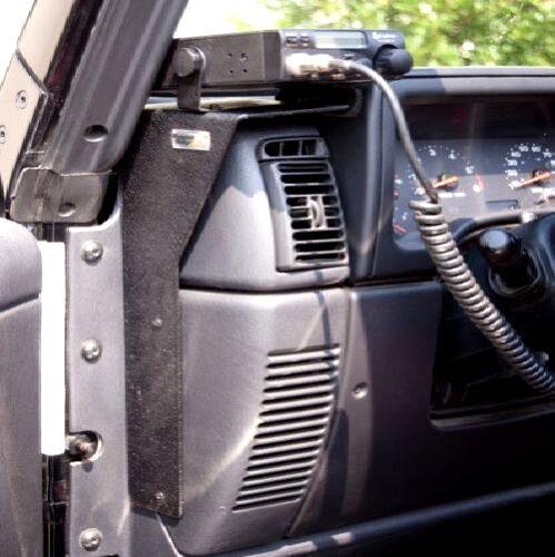jeep wrangler tj cb ham radio dash mount holder rugged. Black Bedroom Furniture Sets. Home Design Ideas