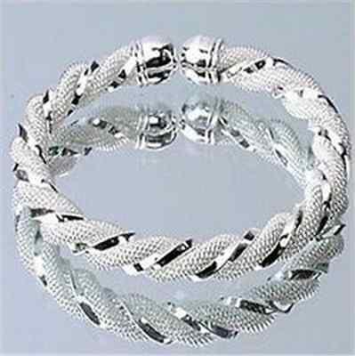 Xmas gift Fashion Jewelry Wholesale Womens Solid 925Silver Bangle/Bracelet Cuff