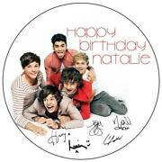 One Direction Round Cake Topper