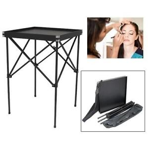"NEW MAKE UP ARTIST PORTABLE TABLE HK3801-PPAB 202329919 25"" BLACK HIKER BEAUTY"