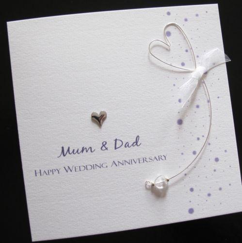 25th Wedding Anniversary Gifts For Mum And Dad: Anniversary Card Husband Handmade