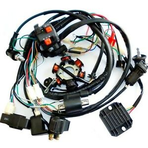 gy6 wiring harness full electrics wiring harness cdi coil solenoid gy6 150cc atv quad buggy go kart