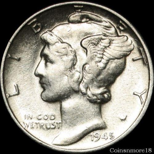 1945 Silver Mercury Dime Ebay