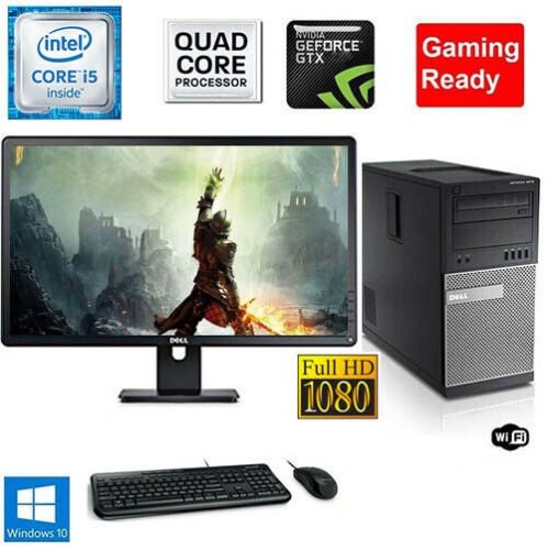 Computer Games - Gaming PC Desktop Computer i5 16GB 120GB SSD+1TB Win10 WIFI +KB+MOUSE
