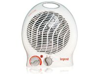 2000W 2kW ELECTRIC FAN HEATER UPRIGHT HOT & COLD (PORTABLE FLOOR SILENT WHITE)