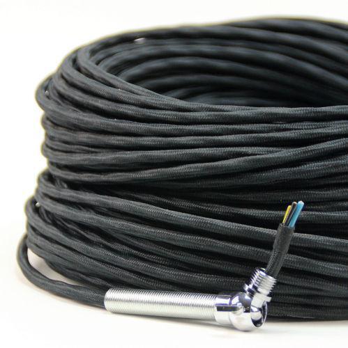 textilkabel 3 adrig kabel ebay. Black Bedroom Furniture Sets. Home Design Ideas