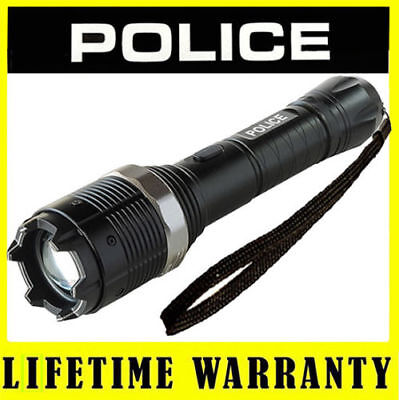 Police Stun Gun 8810 78 Bv Metal Rechargeable With Led Flashlight Taser Case
