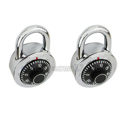 2 Pack 3 Digit Dial Combination Padlock Keyless Anti-theft Security Lock 50mm
