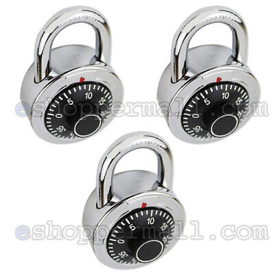 3 Pack 3 Digit Dial Combination Padlock Keyless Anti-theft Security Lock 50mm
