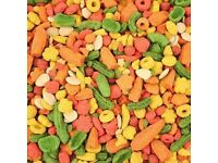 KAYTEE EXACT RAINBOW CHUNKY COMPLETE LARGE PARROT FOOD BISCUIT 1.13KG / 2.5LB (TWO BAGS each 2.5lb)