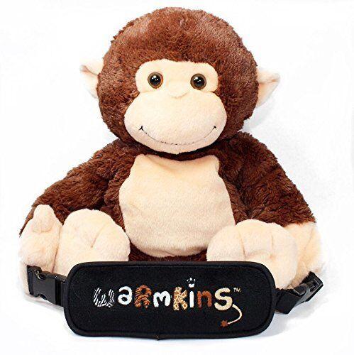 """Hugo""Heated/Cooled,Multi Functional,18"" Plush Monkey Buddy,Converts to Backpack"
