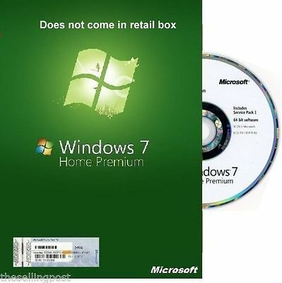 Microsoft Windows 7 Home Premium - 32 Bit SP1 Full Version & Upgrade NEW!