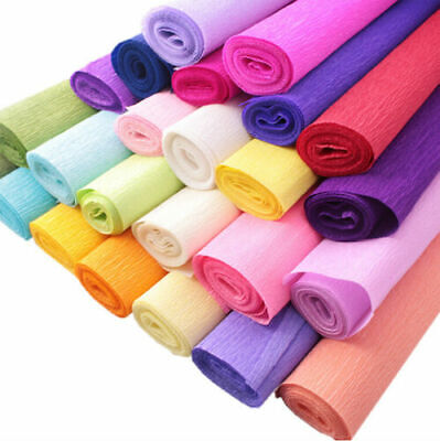 20 Colours Crepe Paper Roll Sheets Coloured Craft Paper Florist Paper 20